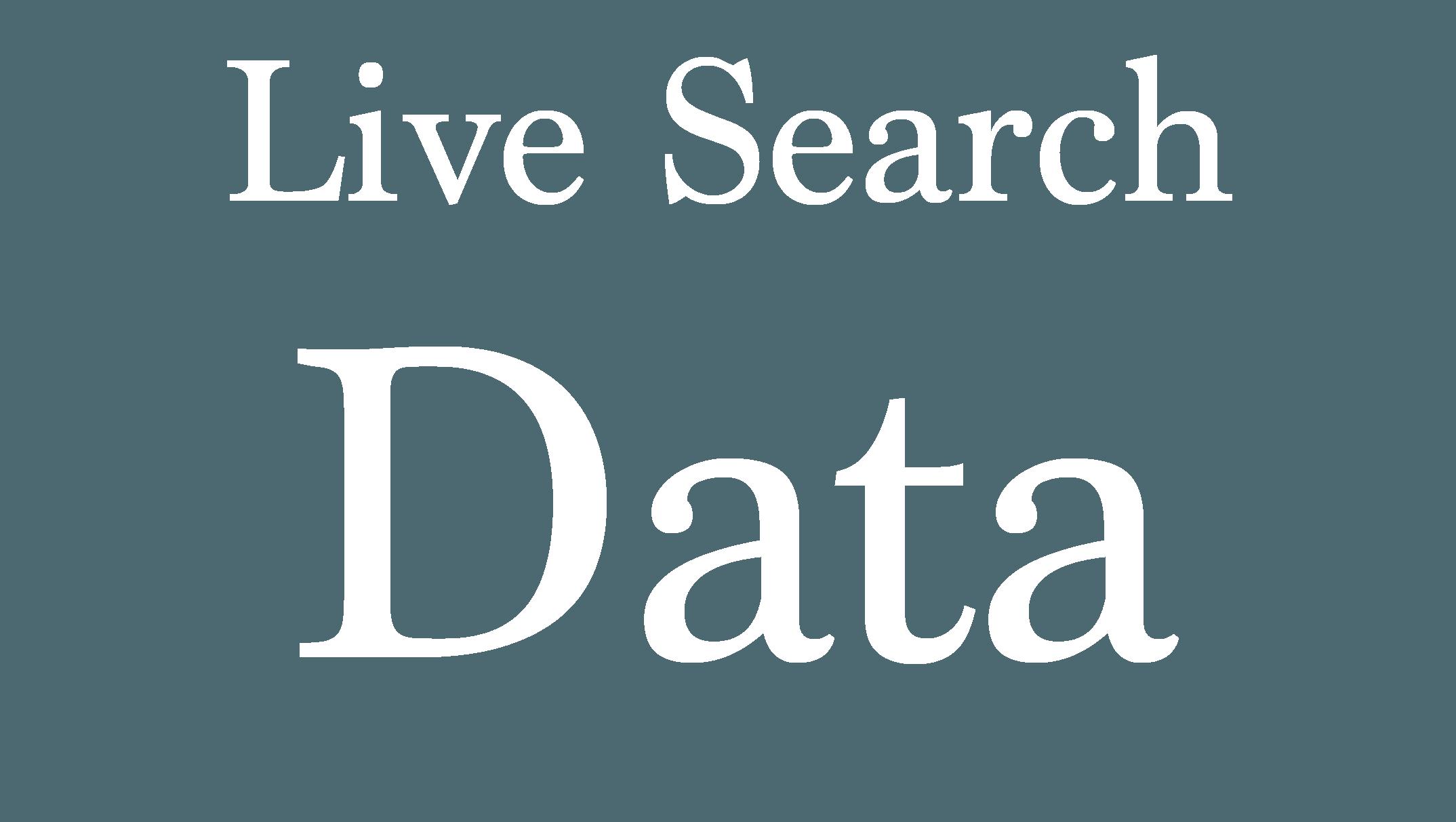 Live Search Data